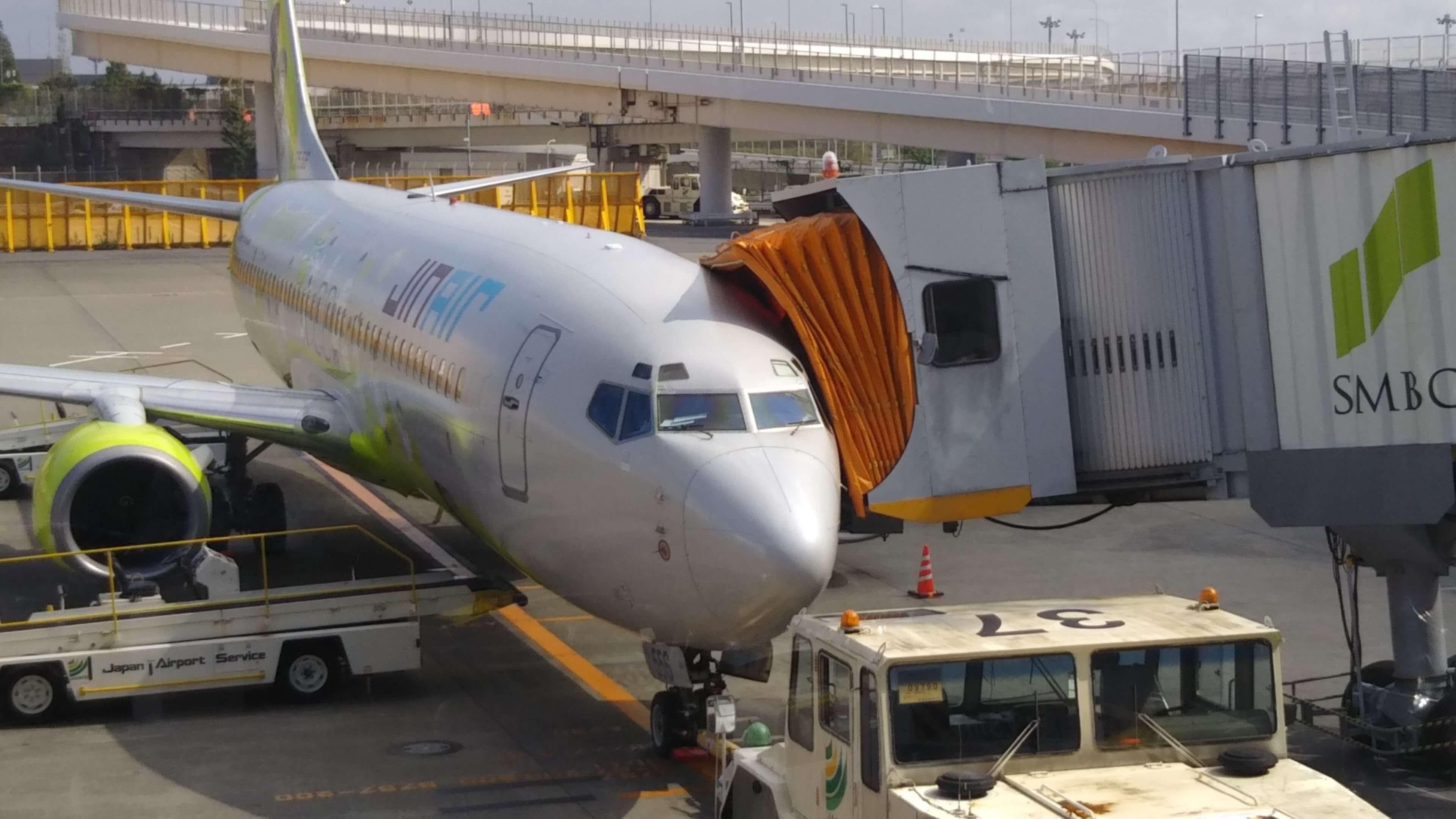 成田空港の飛行機(エアカランではない)