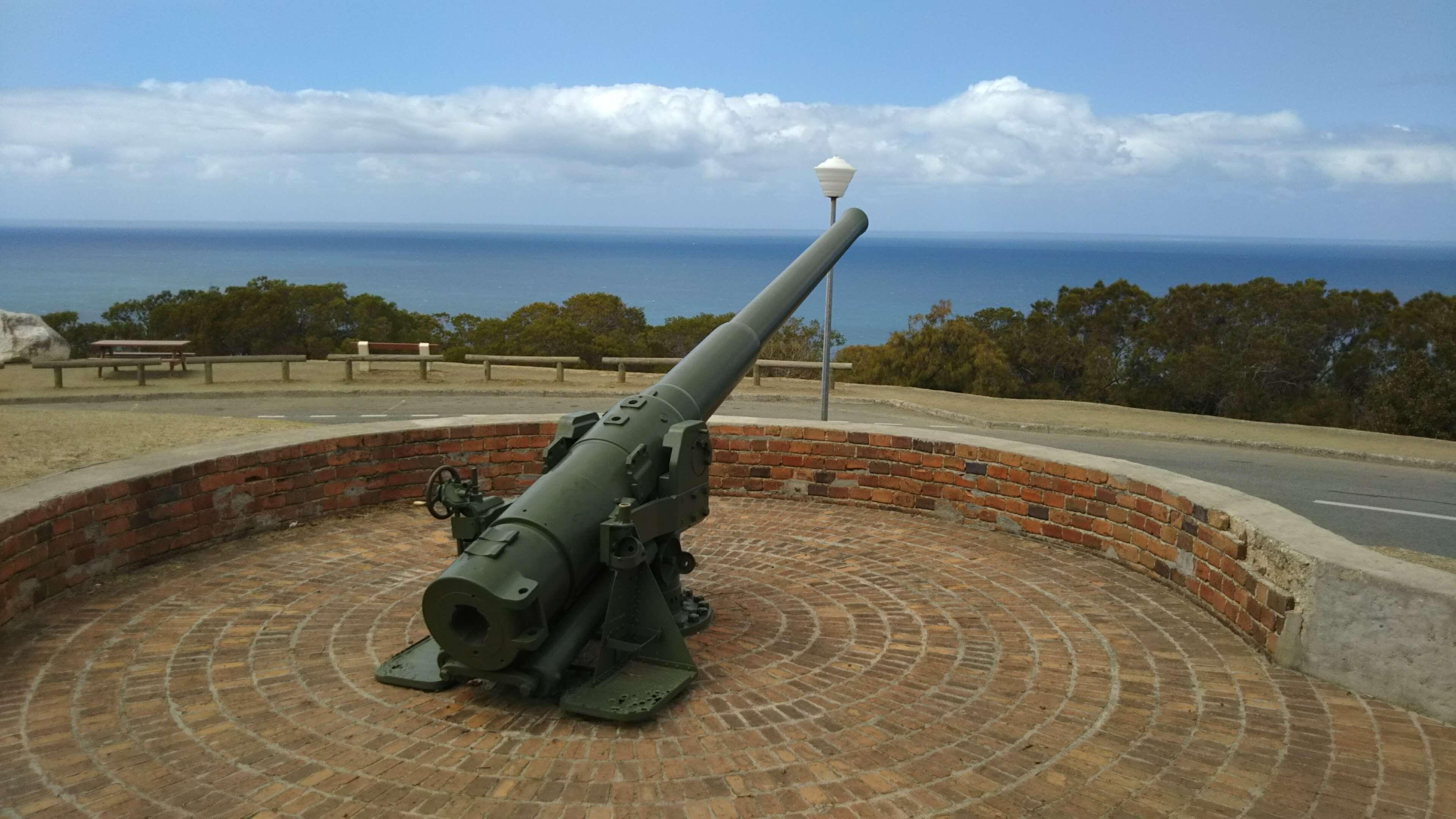 ウアントロの丘にある大砲・確か一度も使われることがなかったとか