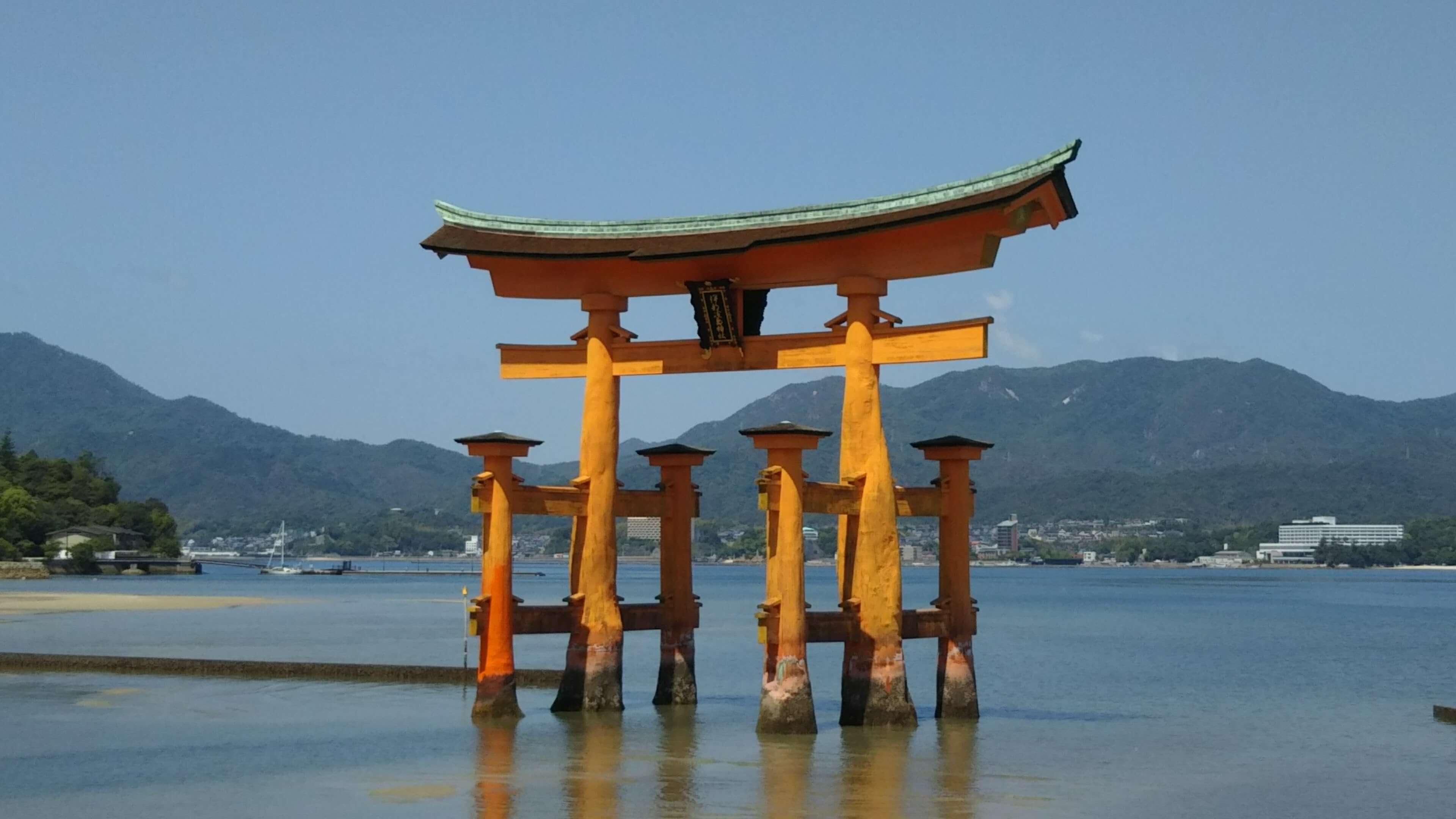 40厳島神社の大鳥居